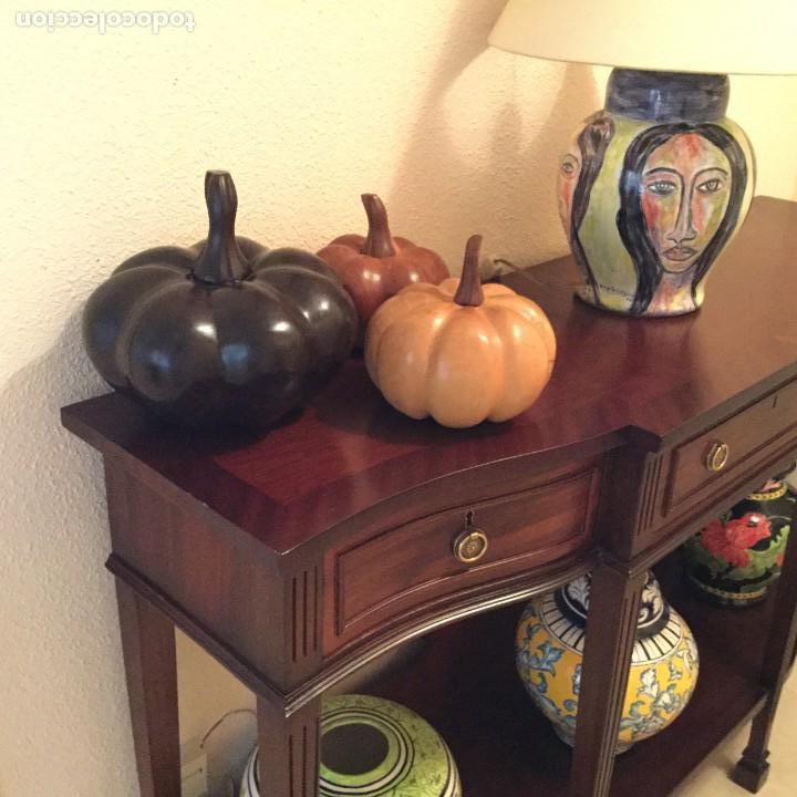 Varios objetos de Arte: Conjunto de tres calabazas madera maciza - Foto 5 - 155335430