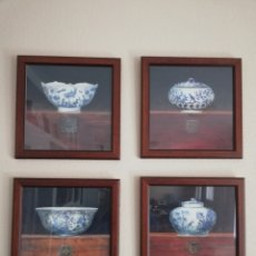 Varios objetos de Arte: CUADROS CONJUNTO DE PORCELANAS. Lote 155635828