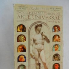 Varios objetos de Arte: ENCICLOPEDIA MULTIMEDIA DEL ARTE UNIVERSAL ALPHABETUM - 12 CD - 5000 OBRAS DE ARTE - 500 BIOGRAFÍAS.. Lote 156296870