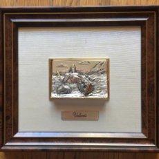 Varios objetos de Arte: CUADRO VALENTI, BAÑADO EN PLATA, CON MARCAS. Lote 156498018