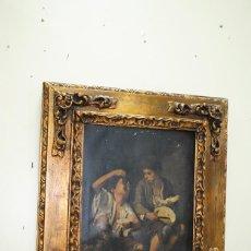 Varios objetos de Arte: CUADRO ANTIGUO MARCO TALLADO SOBREDORADO. Lote 157015494