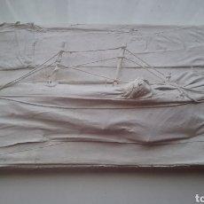 Varios objetos de Arte: CUADRO ESCULTURA DE BARCO DE HERRERA. Lote 157209376
