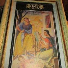 Varios objetos de Arte: NACIMIENTO NIÑO JESUS Y VIRGEN GASTON CASTELLO LAMINA DE ANIGUA OBRA 1982. Lote 157916074