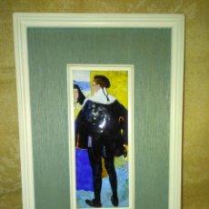 Varios objetos de Arte: CUADRO CON ESMALTE REPRODUCCIÓN DE SOROLLA. Lote 158338574