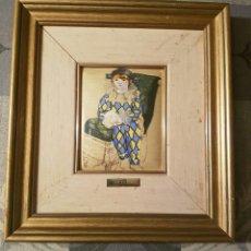 Varios objetos de Arte: CUADRO PICASSO - PEQUEÑO ARLEQUIN - ESMALTE. Lote 158458489