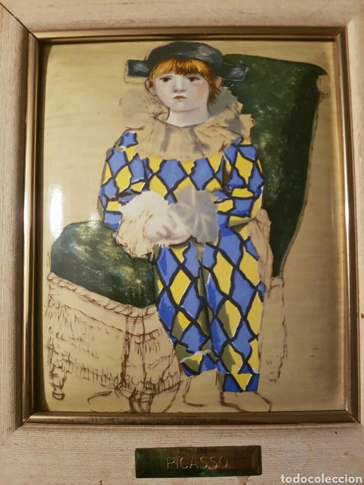 Varios objetos de Arte: Cuadro Picasso - Pequeño Arlequin - Esmalte - Foto 2 - 158458489