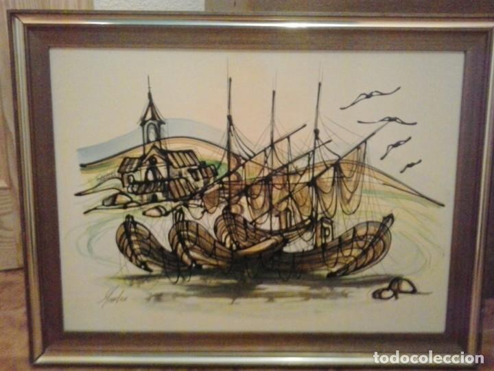 BONITO CUADRO- ESMALTE A BAJA TEMPERATURA (Arte - Varios Objetos de Arte)