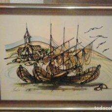 Varios objetos de Arte: BONITO CUADRO- ESMALTE A BAJA TEMPERATURA. Lote 158552454