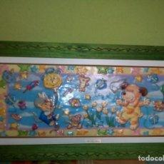 Varios objetos de Arte: BONITO CUADRO INFANTIL ESMALTADO. Lote 158558154