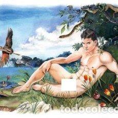 Varios objetos de Arte: ADAN EN ELJARDIN DEL EDEN (ILUSTRACION DIGITAL) ¡LEER DESCRIPCION!. Lote 158786590