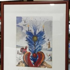 Varios objetos de Arte: SALVADOR DALÍ. FELICITACIÓN NAVIDEÑA DE 1968. REPRODUCCIÓN. ENMARCADA. Lote 158917102