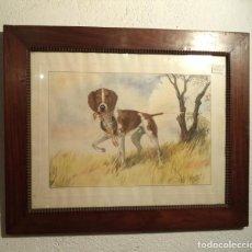 Varios objetos de Arte: CUADRO DE A. GONY, REPRESENTA UN PERRO DE CAZA. Lote 159694646