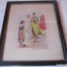 Varios objetos de Arte: CYNICUS ACUARELA - BOTH RICH & POOR ALIKE. Lote 159843054