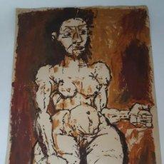 Varios objetos de Arte: TEMPERA SOBRE CARTULINA ( POSIBLE DURBÁN ). Lote 159856402