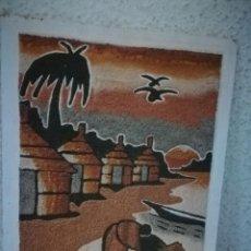 Varios objetos de Arte: BONITO CUADRO DE ARENA * TRABAJADO EN LAMINA DE MADERA * MEDIDAS 34 X 25 CM. Lote 159860882