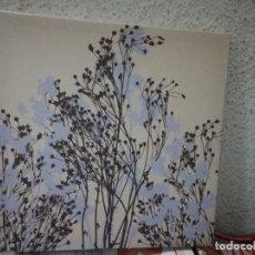 Varios objetos de Arte: CUADRO DE FLORES SOBRE TELA * MEDIDAS DE TELA 30 X 30 CM. Lote 160126714