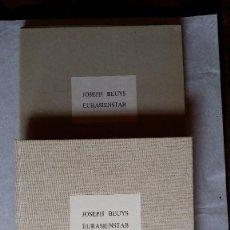 Varios objetos de Arte: JOSEPH BEUYS EURASIENSTAB, 1987, EJEMPLAR NUMERADO. Lote 160171190