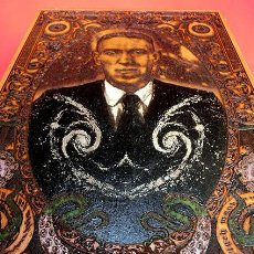 Varios objetos de Arte: IMPRESIONANTE GRABADO LÁSER SOBRE MADERA - H.P. LOVERCRAFY - OBRA LIMITADA - FIRMADA Y NUMERADA. Lote 160397790