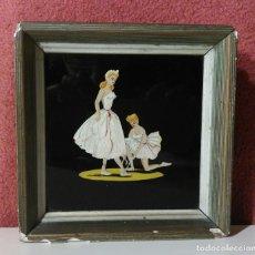 Varios objetos de Arte: ANTIGUO CUADRO ESMALTE, BAILARINAS. Lote 160432090