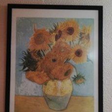 Varios objetos de Arte: CUADRO LITOGRAFIA LOS GIRASOLES VINCENT VAN GOGH. Lote 160464093