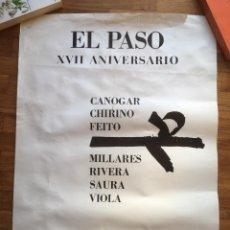 Varios objetos de Arte: EL PASO - CARTEL RENE METRAS - 1974 - CANOGAR MILLARES CHIRINO RIVERA FEITO SAURA VIOLA . Lote 161007674