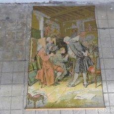 Varios objetos de Arte: MUY ANTIGUO FINALES 1800, BONITO E IMPORTANTE TAPIZ DE LANA, COMPLETO Y EN BUEN ESTADO. Lote 161093018
