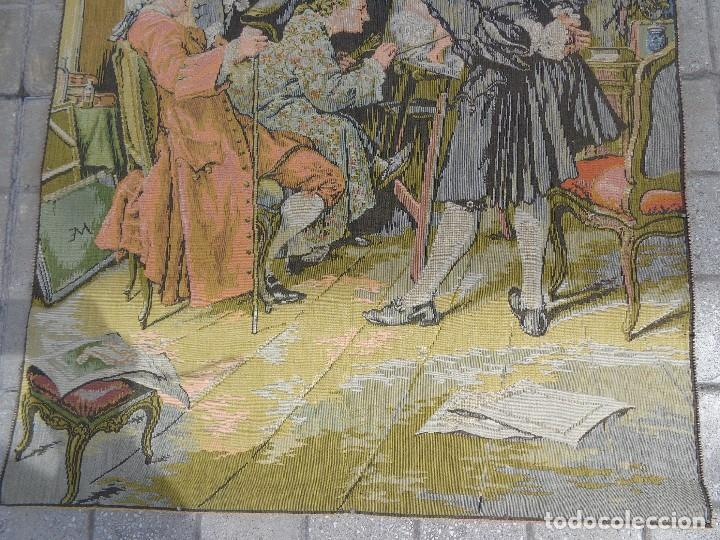 Varios objetos de Arte: MUY ANTIGUO FINALES 1800, BONITO E IMPORTANTE TAPIZ DE LANA, COMPLETO Y EN BUEN ESTADO - Foto 3 - 161093018