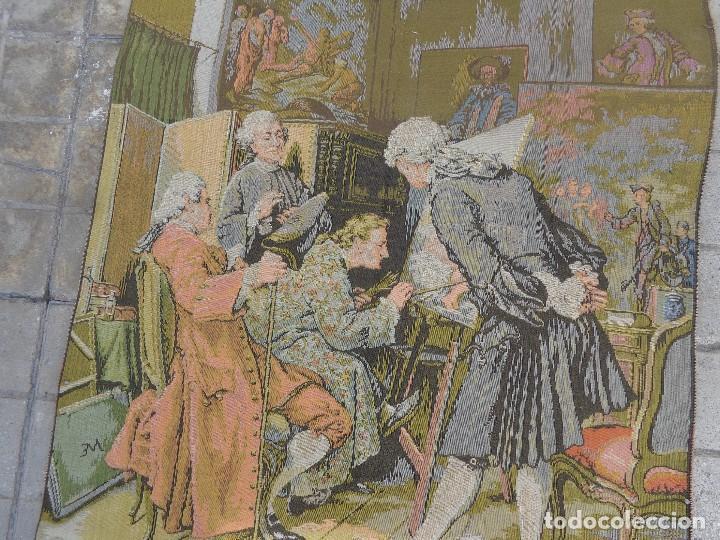 Varios objetos de Arte: MUY ANTIGUO FINALES 1800, BONITO E IMPORTANTE TAPIZ DE LANA, COMPLETO Y EN BUEN ESTADO - Foto 4 - 161093018