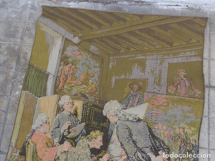 Varios objetos de Arte: MUY ANTIGUO FINALES 1800, BONITO E IMPORTANTE TAPIZ DE LANA, COMPLETO Y EN BUEN ESTADO - Foto 5 - 161093018