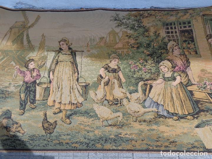 Varios objetos de Arte: MUY ANTIGUO FINALES 1800, BONITO E IMPORTANTE TAPIZ DE LANA, COMPLETO Y EN BUEN ESTADO - Foto 4 - 161094390