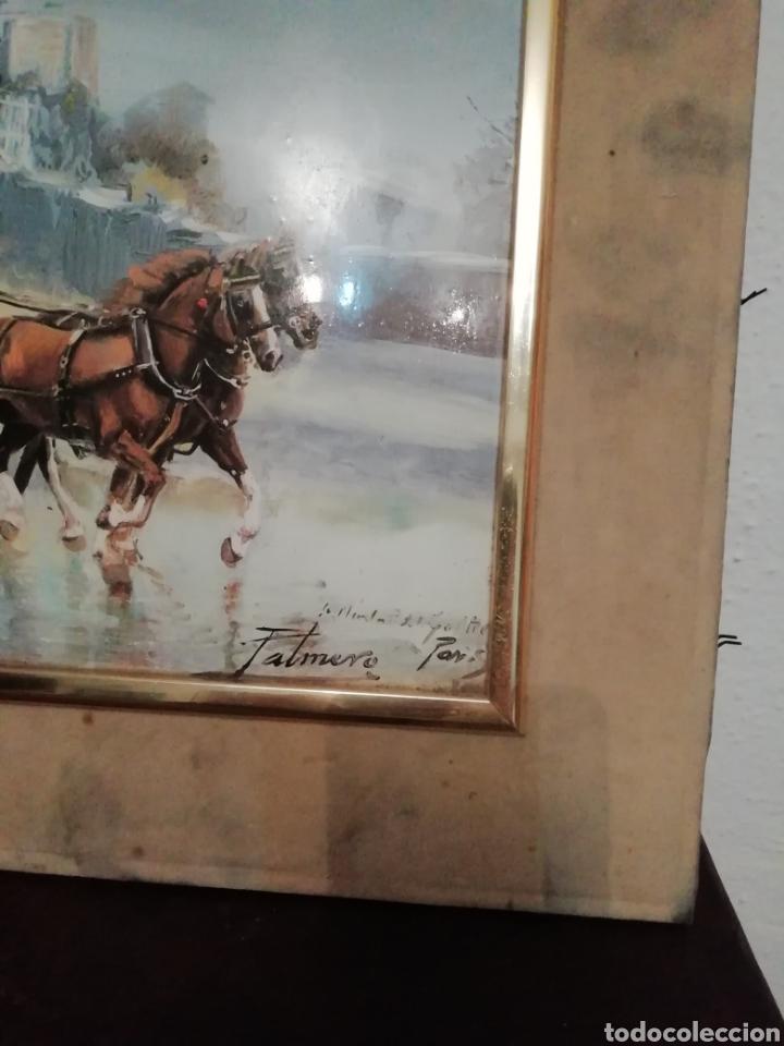 Varios objetos de Arte: Lote dos cuadros Maestro palmero - Foto 4 - 161397950