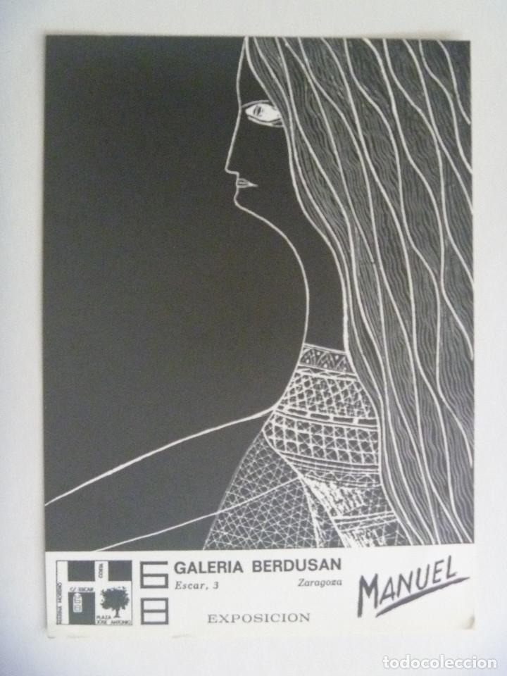 FOLLETO DE EXPOSICION DEL PINTOR MANUEL CARMONA . GALERIA BERDUSA. ZARAGOZA, 1976 (Arte - Varios Objetos de Arte)