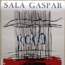 Varios objetos de Arte: JOSEP ROYO CARTEL SALA GASPAR BARCELONA 1972 80X56 CMS LITOGRAFICO. Lote 161671454