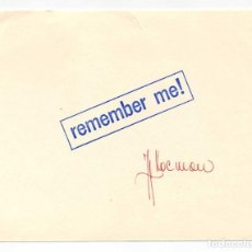 Arte: J.H. KOCMAN. REMEMBER ME. STAMP ART. BEFORE 1973. SIGNED. Lote 216485363