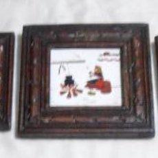 Varios objetos de Arte: CINCO CUADROS MINIATURAS DE ERNESTO MORADO, TITO, LA CORUÑA. Lote 162134122