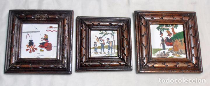 Varios objetos de Arte: CINCO CUADROS MINIATURAS DE ERNESTO MORADO, TITO, LA CORUÑA - Foto 5 - 162134122