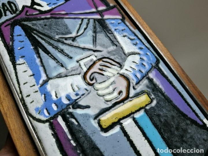 Varios objetos de Arte: AGENCIA PUBLICIDAD CID . ESMALTE AL FUEGO SOBRE METAL. MONTSERRAT MAINAR BENEDICTO AÑOS 60 - Foto 12 - 162387606