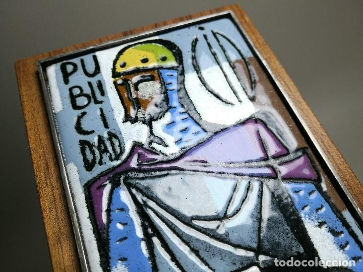 Varios objetos de Arte: AGENCIA PUBLICIDAD CID . ESMALTE AL FUEGO SOBRE METAL. MONTSERRAT MAINAR BENEDICTO AÑOS 60 - Foto 11 - 162387606