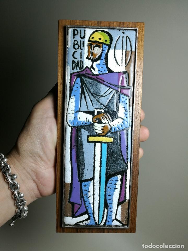 Varios objetos de Arte: AGENCIA PUBLICIDAD CID . ESMALTE AL FUEGO SOBRE METAL. MONTSERRAT MAINAR BENEDICTO AÑOS 60 - Foto 19 - 162387606