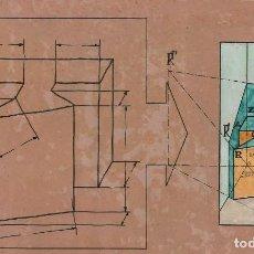 Varios objetos de Arte: ANTIGUO DIBUJO DE PERSPECTIVA ORIGINAL - TRABAJO DIDÁCTICO. Lote 162446630