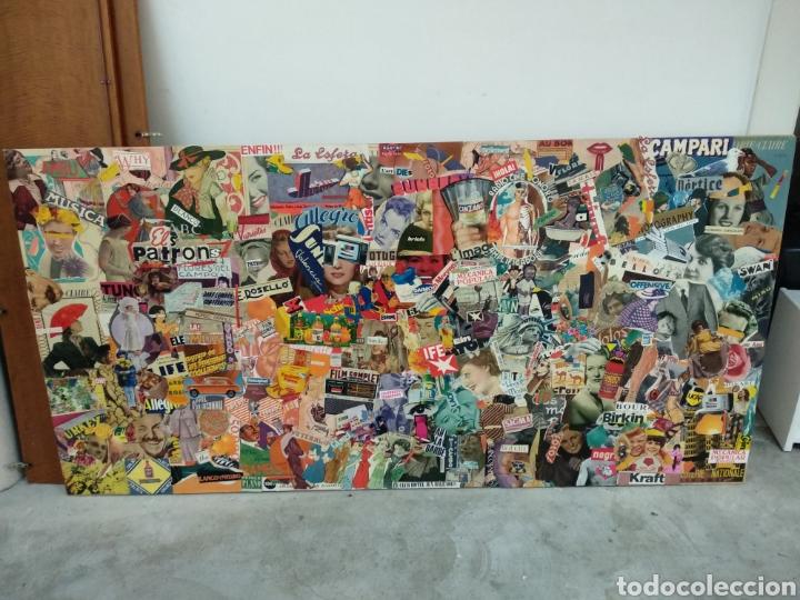 THE PATRON'S. COLLAGE ORIGINAL EN MADERA USANDO PAPELES ANTIGUOS. JAUME SERRA (Arte - Varios Objetos de Arte)