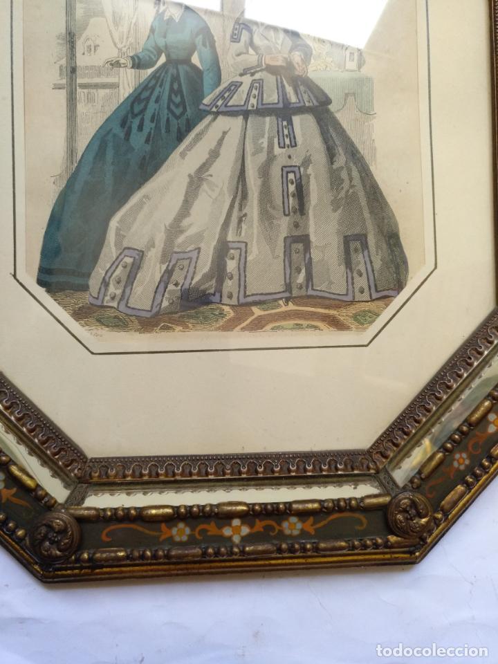 Varios objetos de Arte: 2 ANTIGUOS CUADROS , ORIGINAL DAMAS EPOCA SEGUNDO IMPERIO . SIGLO 19 - Foto 6 - 163775610