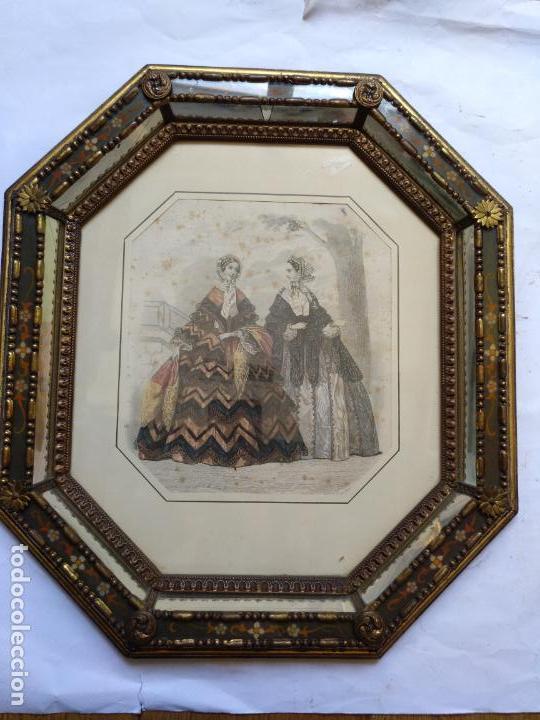 Varios objetos de Arte: 2 ANTIGUOS CUADROS , ORIGINAL DAMAS EPOCA SEGUNDO IMPERIO . SIGLO 19 - Foto 10 - 163775610