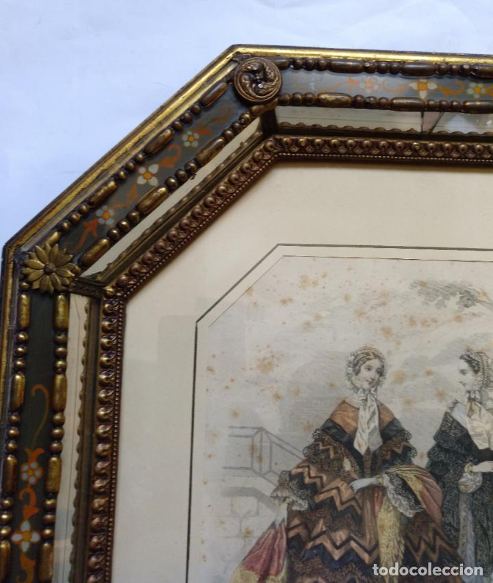 Varios objetos de Arte: 2 ANTIGUOS CUADROS , ORIGINAL DAMAS EPOCA SEGUNDO IMPERIO . SIGLO 19 - Foto 11 - 163775610