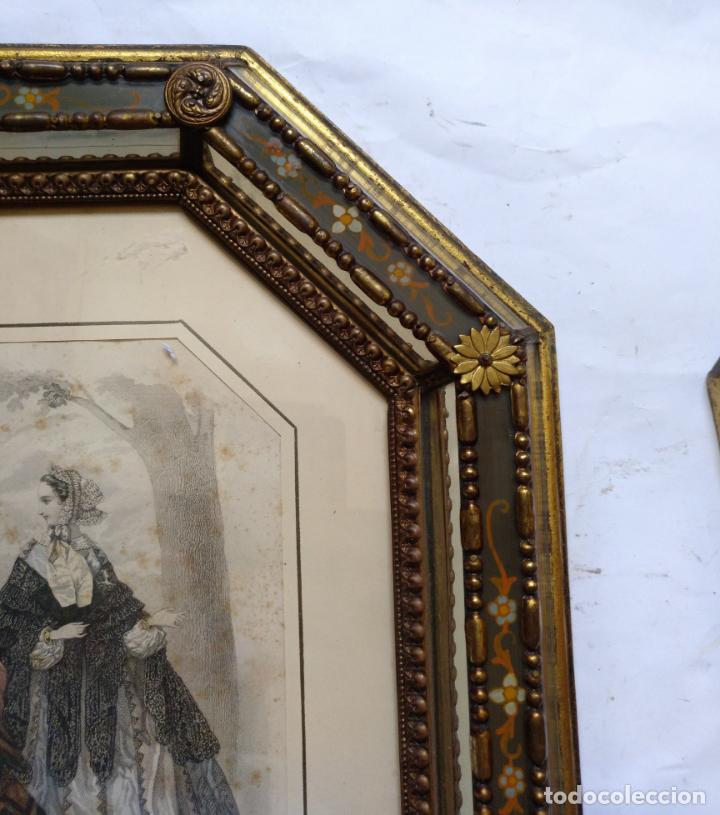 Varios objetos de Arte: 2 ANTIGUOS CUADROS , ORIGINAL DAMAS EPOCA SEGUNDO IMPERIO . SIGLO 19 - Foto 12 - 163775610