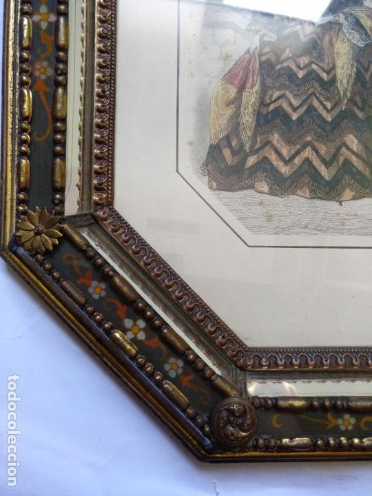 Varios objetos de Arte: 2 ANTIGUOS CUADROS , ORIGINAL DAMAS EPOCA SEGUNDO IMPERIO . SIGLO 19 - Foto 13 - 163775610