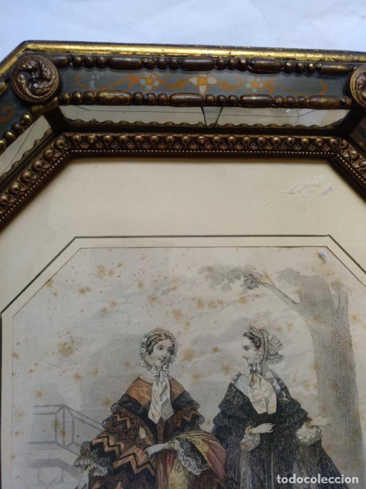 Varios objetos de Arte: 2 ANTIGUOS CUADROS , ORIGINAL DAMAS EPOCA SEGUNDO IMPERIO . SIGLO 19 - Foto 14 - 163775610
