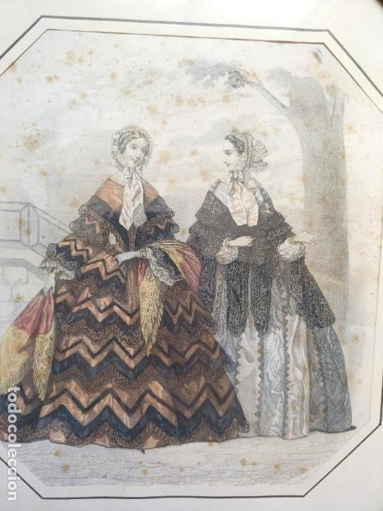 Varios objetos de Arte: 2 ANTIGUOS CUADROS , ORIGINAL DAMAS EPOCA SEGUNDO IMPERIO . SIGLO 19 - Foto 19 - 163775610