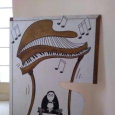 Varios objetos de Arte: CUADRO GRAFFITI KIE 7 FIRMADO PARTE TRASERA. Lote 164801914