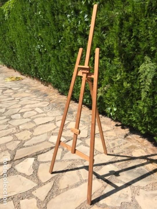 CABALLETE DE PINTOR EN MADERA (Arte - Varios Objetos de Arte)